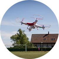 Dronai - kvadrakopteriai