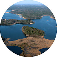 Spectacular view of Plateliai lake